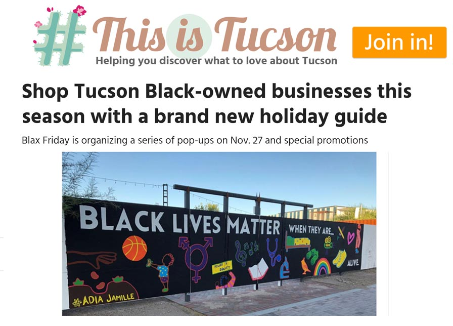 #thisistucson Blax Friday Holla-day Guide